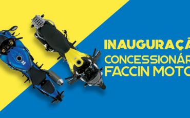 Imagem ilustrativa de duas motos da suzuki com o nome da concessionárias Faccin Motos
