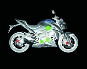Motos - Suzuki Sistema de Controle de Tração Motos
