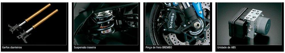 Moto GSX-S1000A Frenagem