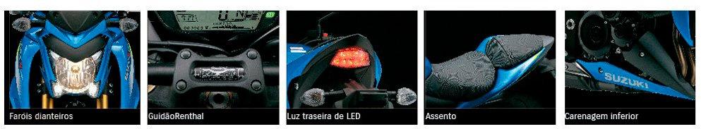 Motocicleta GSX-S1000A Agressividade